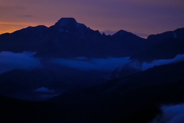 Nightfall on Longs Peak