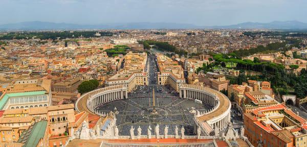 Vatican City Panoramic Print by Brad Scott