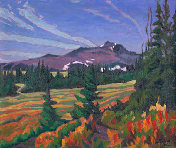Hudson Bay Crater Lake Trail - oil by Sherry Nielsen