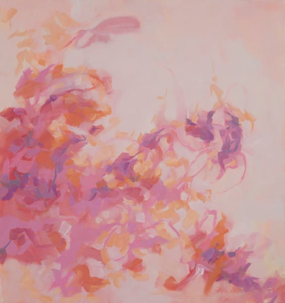 Delicate Balance II abstract oil painting on canvas