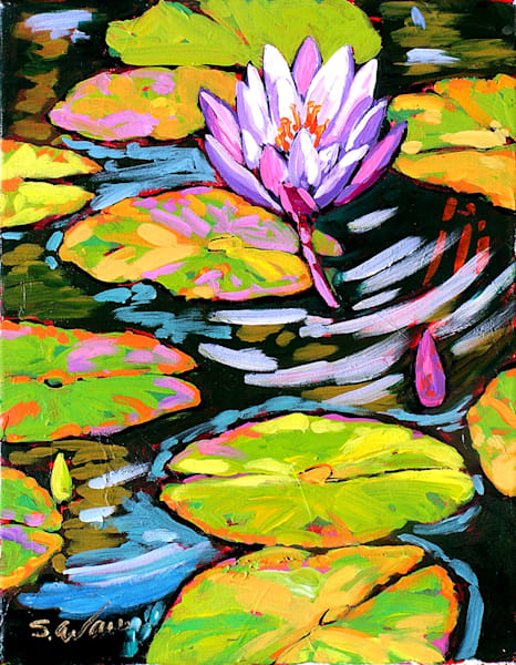 Purple Flower Dances In Light | Sally C. Evans Fine Art