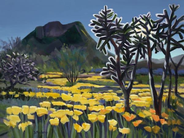 Chollas in the Poppy Field | Southwest Art Gallery Tucson