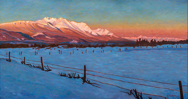 Laidlaw Sunrise - Hudson Bay Mountain winter morning - by Sherry Nielsen