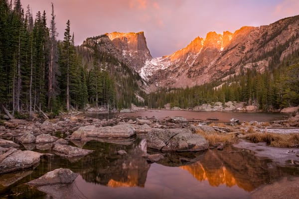 Dream Lake Autumn's First Light RMNP