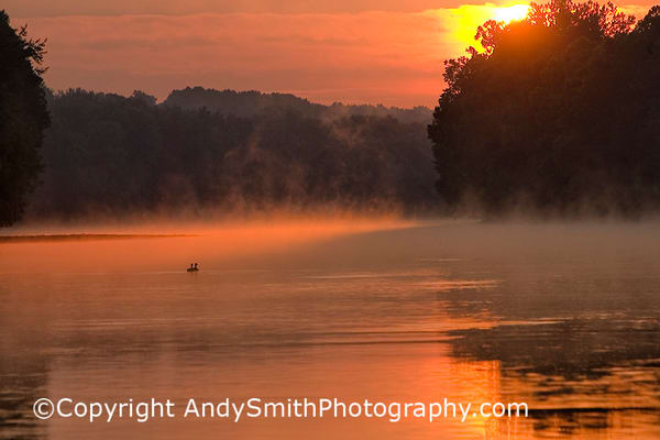 Sunrise on the Schuylkill River at Valley Forge fine art photograph of