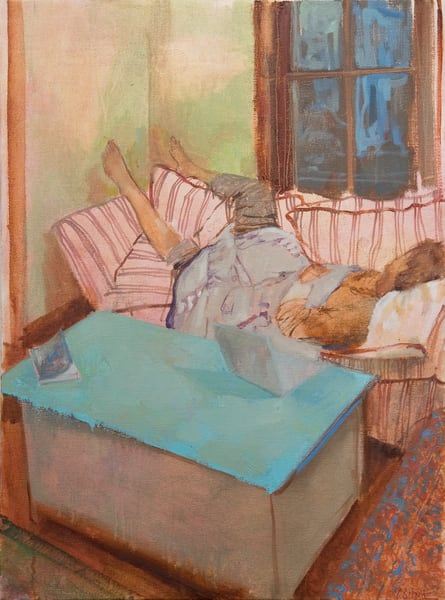 Sleeping oil on canvas