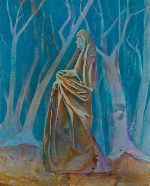 Lady of the Forest Original Artwork by Pat Megraw