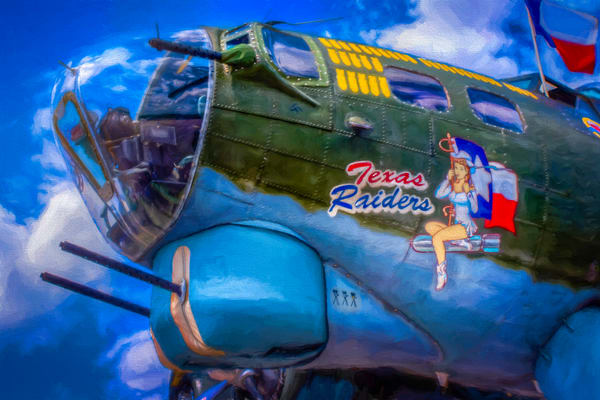 Texas Raiders B-17 Flying Fortress Restored Bomber WW2 fleblanc