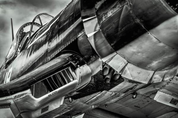 Black & White Chance Vought F4U Corsair Restored Military fleblanc