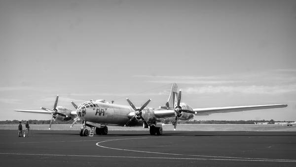 B-29 Super fortress Black and White Combat Restored fleblanc