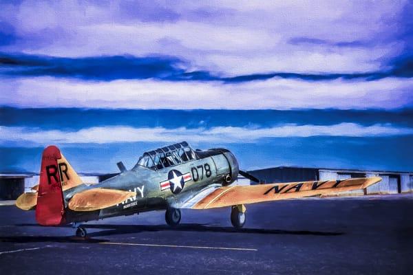 AT-6 Texan Trainer Painting Restored Navy WW2 Aircraft fleblanc
