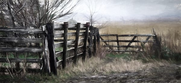 Farm Ranch Rural Muted Fall Abstract|Wall Decor fleblanc