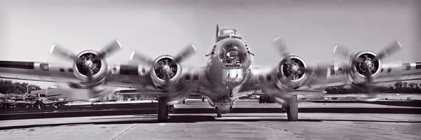 Aluminum Overcast B-17 Monochrome Restored Aircraft fleblanc