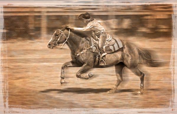 Rodeo Barrel Racing Young Cowgirl Decor|Wall Decor fleblanc