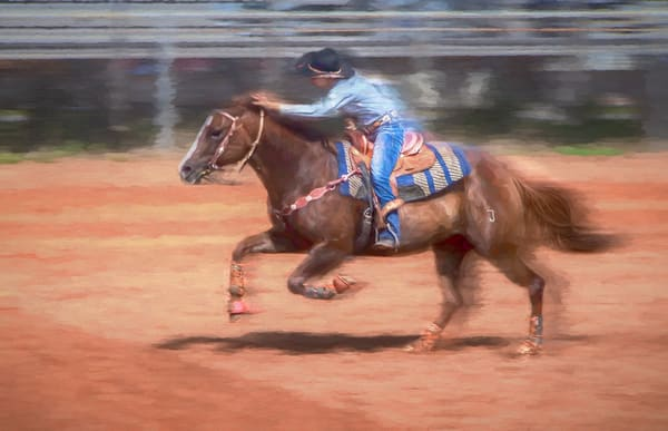 Rodeo Barrel Racing Competition Decor|Wall Decor fleblanc