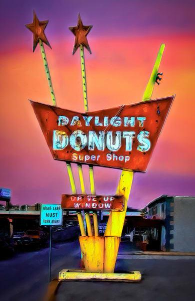 Route 66 Daylight Donuts Sign Neon Decor|Wall Decor fleblanc