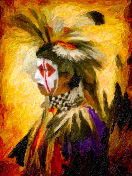 Pow Wow Regalia Painting Southwestern|Wall Decor fleblanc