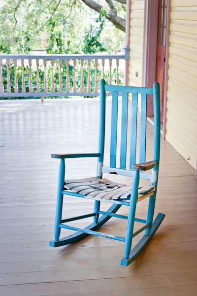 Empty Rocking Chair, Louisiana, USA