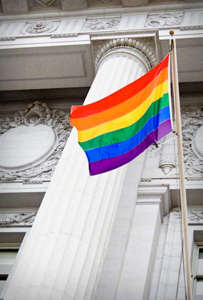 Pride Flag at City Hall, San Francisco, California, USA