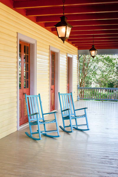 Two Empty Rocking Chairs, Louisiana, USA