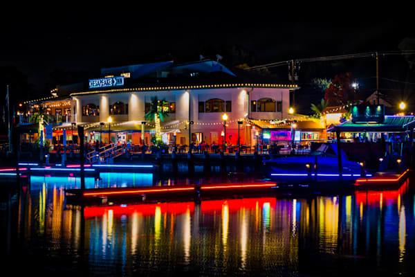 Chesapeake Inn at Night Fine Art Photograph   JustBob Images
