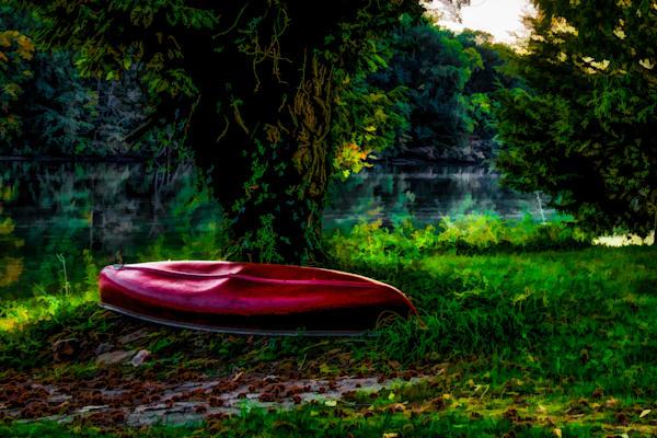 Woodstock Farm Canoe Fine Art Photograph   JustBob Images