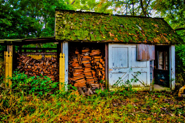 Haskell Wood Shed Fine Art Photograph | JustBob Images