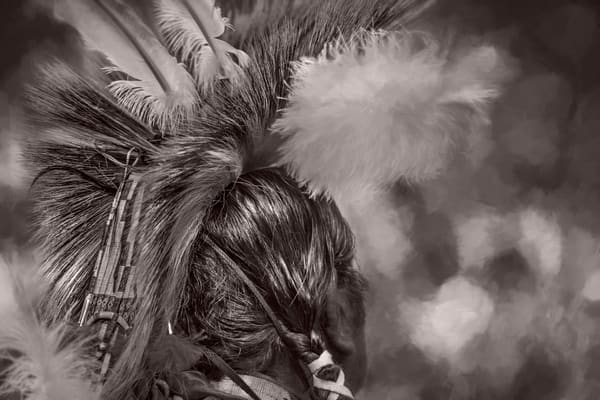 Native American Headdress Monochrome|Wall Decor fleblanc