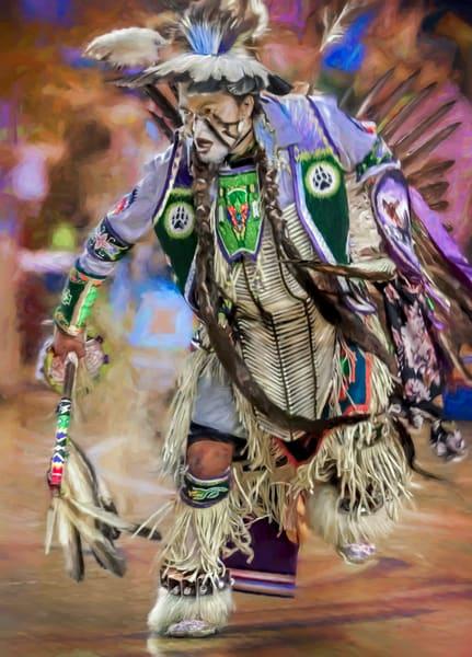 Pow Wow Regalia Dancer Drum West Decor|Wall Decor fleblanc