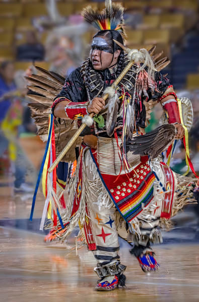 Native American Dancer Regalia Western|Wall Decor fleblanc