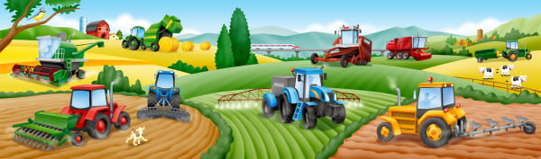 Big Day on the Farm with Tractors