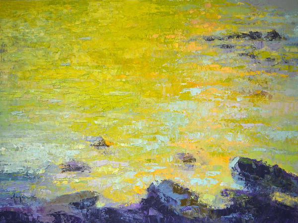 Reflected Brilliance ~ Water Painting Fine Art Print on Canvas