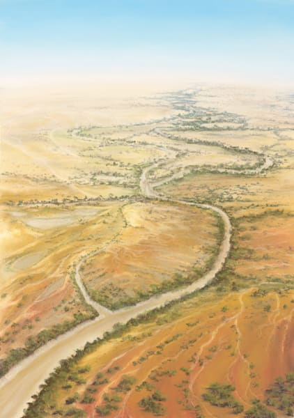 Diamantina River by Jenny Greentree