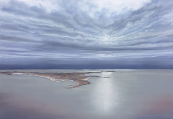 Lake Eyre Storm by Jenny Greentree