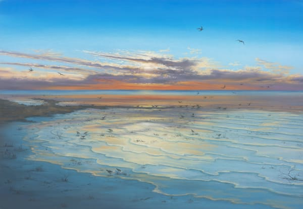 Lake Eyre Sunrise by Jenny Greentree