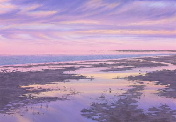 Lake Eyre Sunset by Jenny Greentree