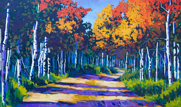 Aspen Path Landscape Prints by artist Matt McLeod