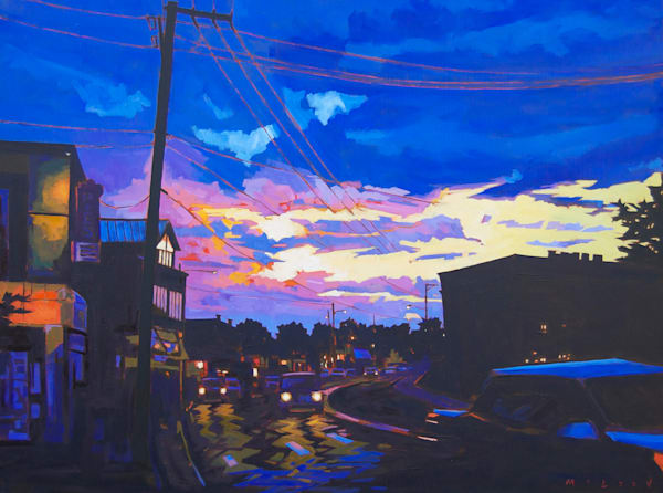 After the Storm Landscape Painting by Matt McLeod. Buy prints online at Matt McLeod Fine Art Gallery