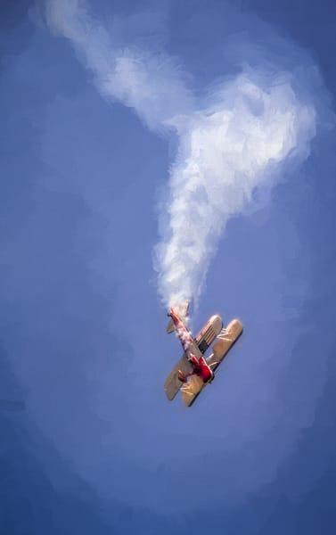 Biplane Airshow Smoke Stunt Fly Military Precision Stunt fleblanc