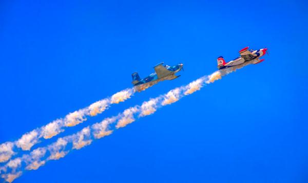 Airshow Aerobatics Smoke Vintage Aircraft Precision Stunt fleblanc