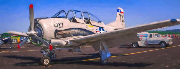Military WW2 T-6 Texan WWII Trainer Aircraft Restored fleblanc