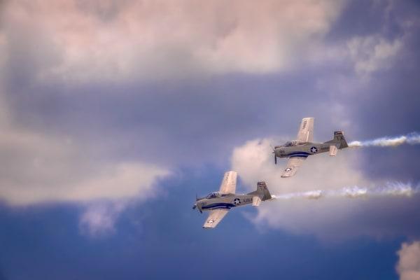 Airshow Military WW2 T-6 Texan Warbird Precision Stunt fleblanc