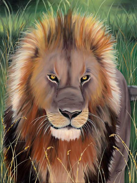 """Jungle King"" Art   Terri Davis Gallery"