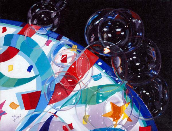 """Bubbles On My Plate"" Art   Terri Davis Gallery"