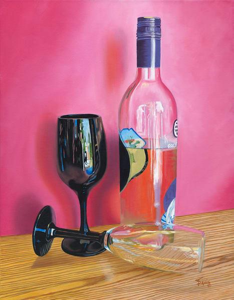 """""""Pink Wine"""" Art   Terri Davis Gallery"""
