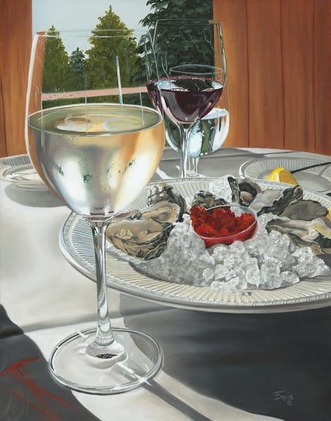 """Oysters And Wine"" Art   Terri Davis Gallery"