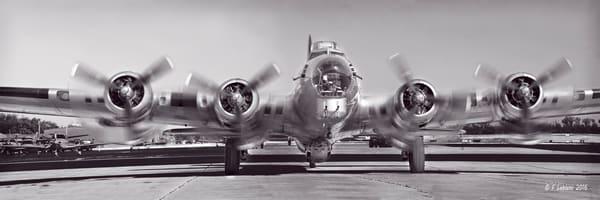 Black and White Boeing B-17 WW2 Battle Restored Aircraft fleblanc
