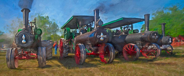 Case Steam Tractors Pano Painting Decor|Wall Decor fleblanc