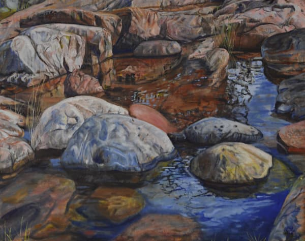 Rocks in the Puddle by Cathy Groulx | SavvyArt Market original oil painting