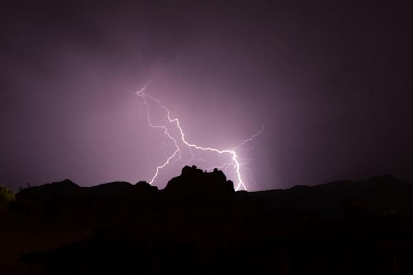 lightning, mountain, sedona